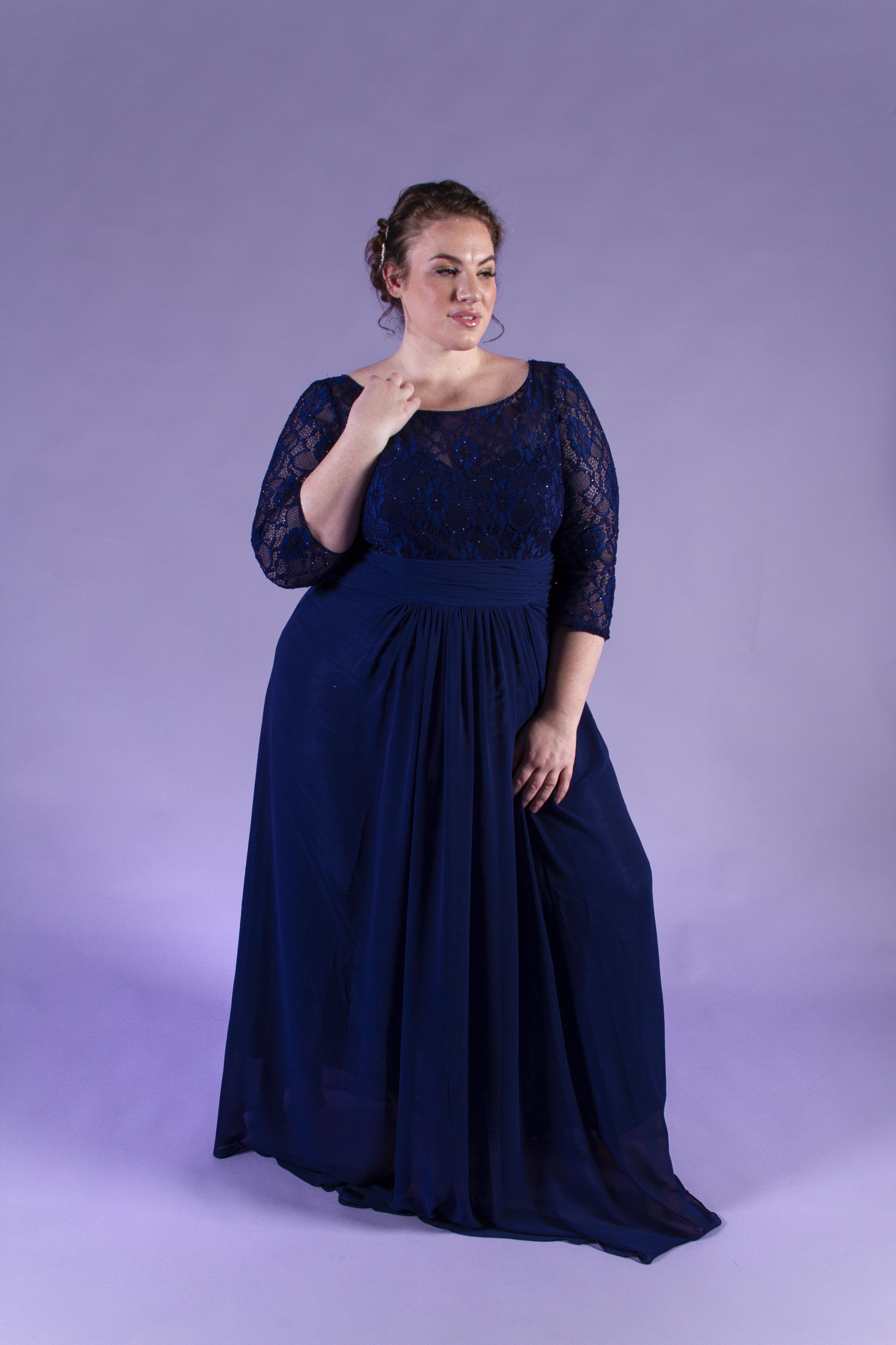 Alysa Navy   Beaux Bridesmaids Plus   Plus Size Bridesmaids ...