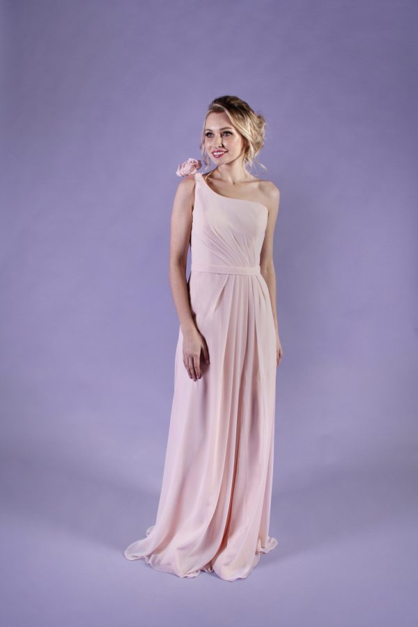 Sunflower-Peach-Bridesmaid-Dress