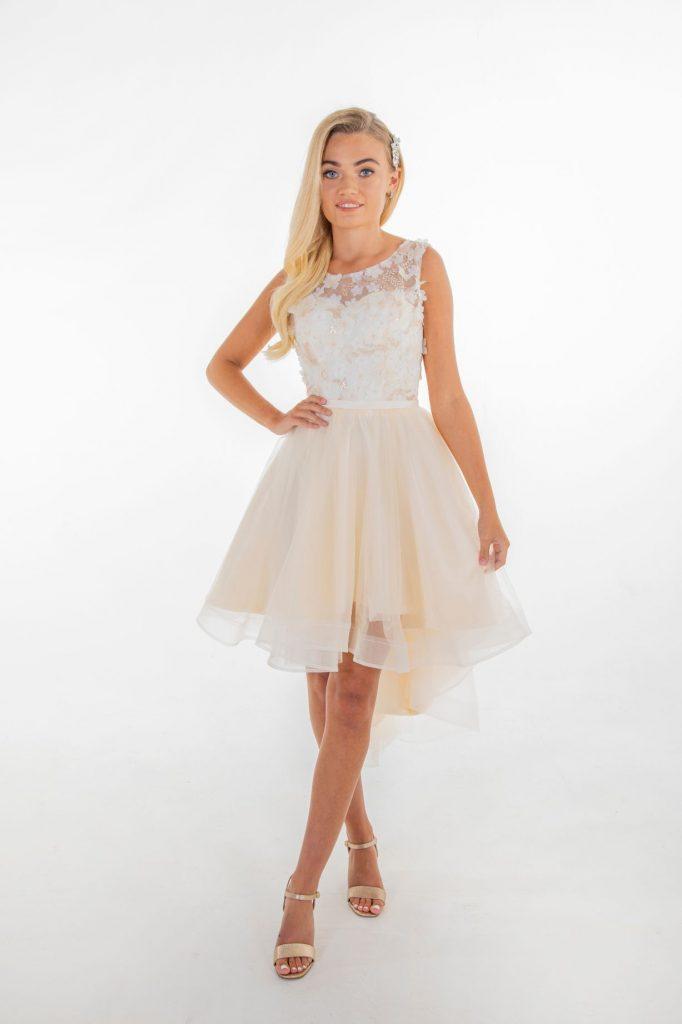 model in julianna bridesmaids dress
